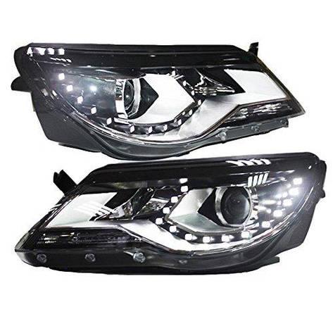 Штатная LED головная оптика SY 2009 по 2011 год для Volkswagen Tiguan, фото 2