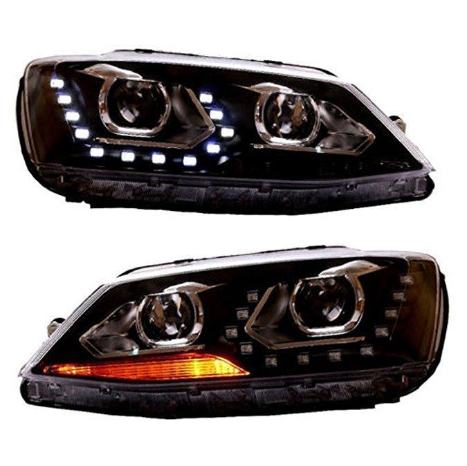 Штатная LED головная оптика YZ 2012 год для Volkswagen New Jetta Sagitar/MK6