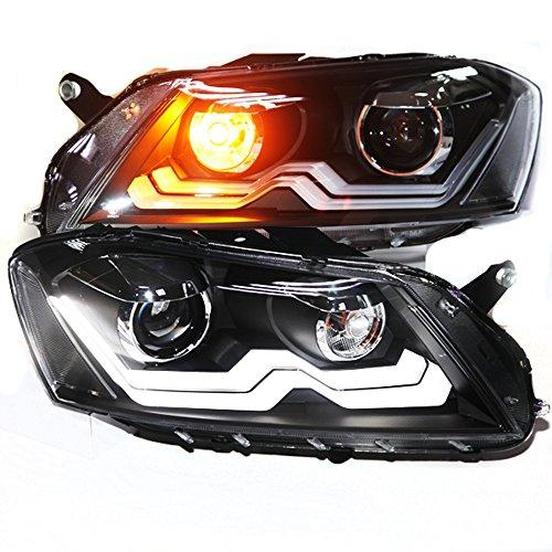 Штатная головная оптика с LED полосой LDV2 Bi Xenon линзой 2012 по 2014 год для Volkswagen Magotan Passat B7 European Version