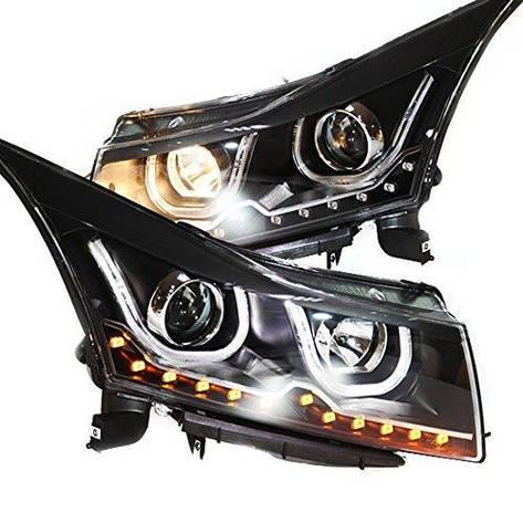 Штатная LED головная оптика 2009 по 2011 год TLZV2 для Chevrolet Cruze, фото 2