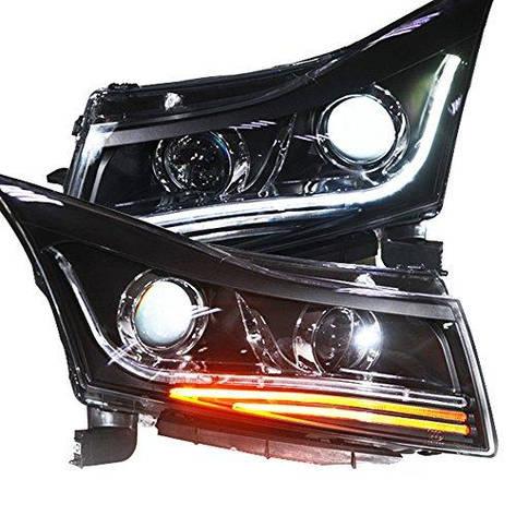 Штатная LED головная оптика с Bi Xenon линзой 2009 по 2013 год TLZV3 для Chevrolet Cruze, фото 2