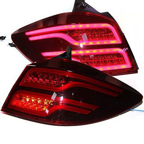 Штатная LED задняя оптика Rear Light 2009 по 2014 год для Chevrolet Cruze Hatchback Dark красный цвет, фото 2