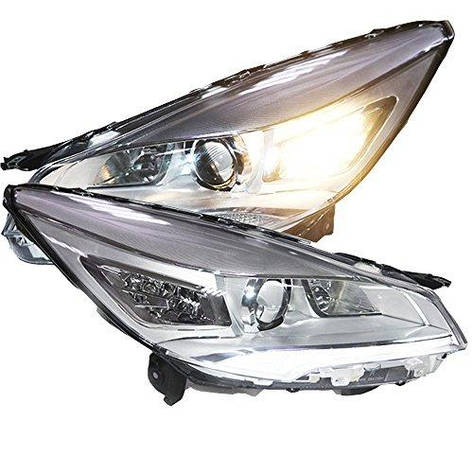 Штатная головная оптика с LED полосой с Bi Xenon линзой 2013 по 2014 год для Ford Kuga Escape, фото 2
