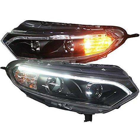 Штатная головная оптика с LED ангельскими глазками 2013 по 2015 год TLZ для Ford Ecosport, фото 2