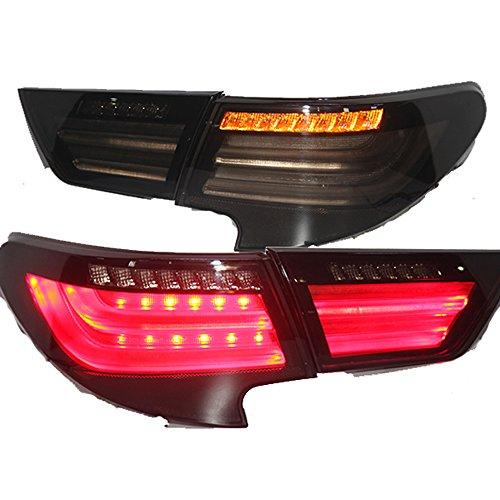 Штатная LED задняя оптика 2014 год для Toyota Vertiga Mark Reiz дымчатый черный цвет