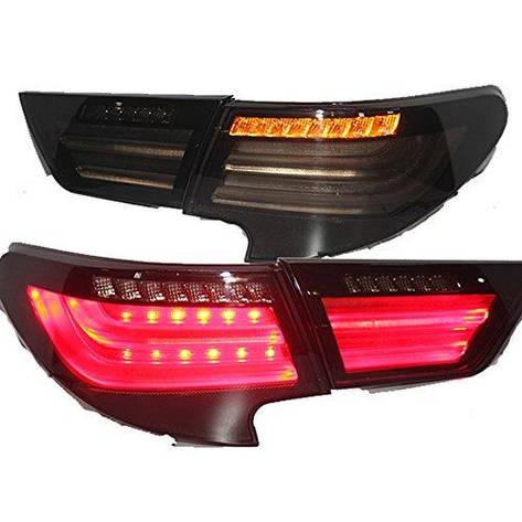 Штатная LED задняя оптика 2014 год для Toyota Vertiga Mark Reiz дымчатый черный цвет, фото 2