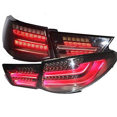 Штатная Tail Lamp 2010 по 2013 год для Toyota Vertiga Mark Reiz дымчатый черный цвет, фото 2