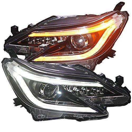 Штатная LED головная оптика 2013 по 2014 год для Toyota Reiz Vertiga Mark Doulbe цвет TLZ
