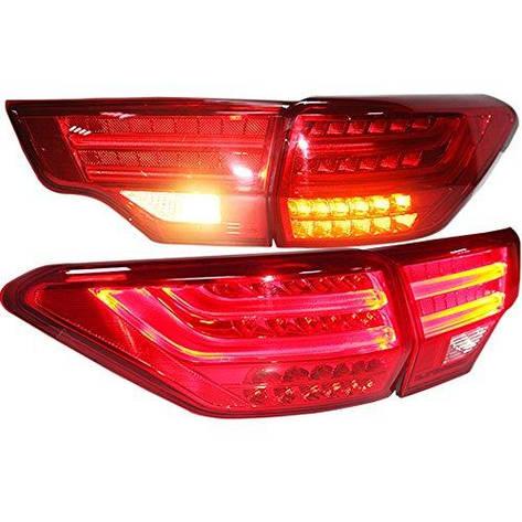 Штатная 2014 год для Toyota Highlander LED задняя оптика красный цвет BZW, фото 2