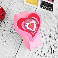 Детские наручные кварцевые часы «Сердце» 100-29, розовый