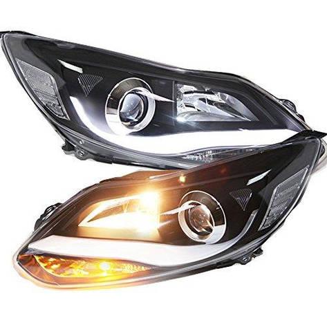 Штатная головная оптика с LED полосой 2012 по 2014 Tear LD V2 для Ford Focus 3, фото 2