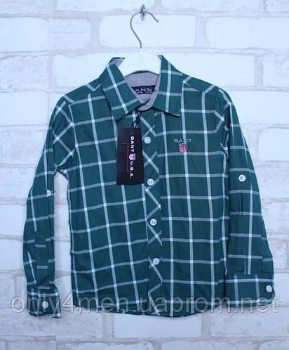 Рубашка в клетку для мальчиков на рост 92-164