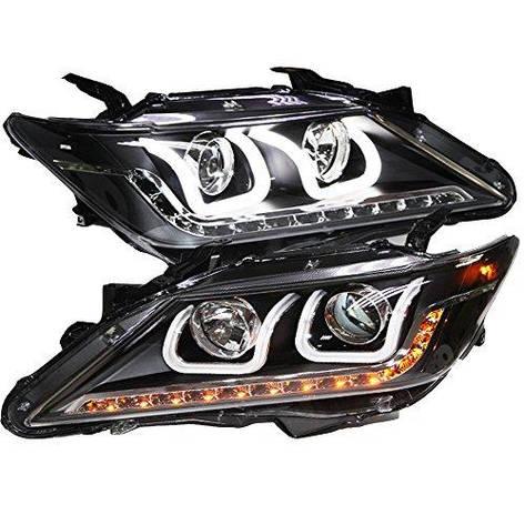 Штатная LED полоса U головная оптика с ангельскими глазками 2012 год LDV1 для Toyota Aurion Camry, фото 2
