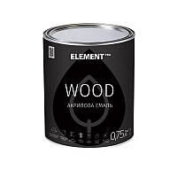 Эмаль для дерева акриловая WOOD ELEMENT PRO 0.75 л