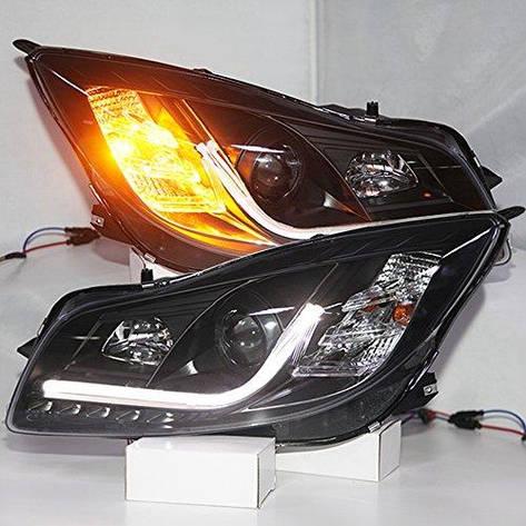 Штатная 2010 по 2013 год для Buick Verano / Regal Opel insignia передние фары с LED полосой SN, фото 2