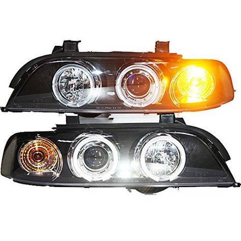 Штатная 1995 по 2003 год для BMW 5 Series 520 525 528 530 535 540 E39 головная оптика с LED ангельскими глазками SN, фото 2