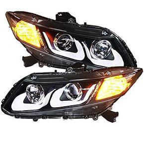Штатная для Honda Civic LED головная оптика U Type 2012 по 2013 Yeah, фото 2