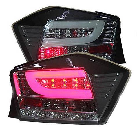 Штатная для Honda City LED задняя оптика 2008 по 2011 год дымчатый черный цвет, фото 2
