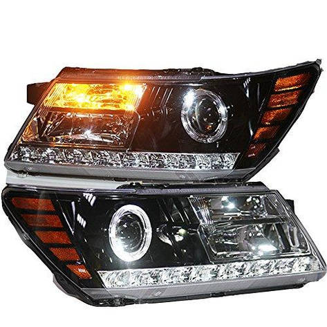 Штатная 2009 по 2014 год для Dodge Journey Fiat Freemont LED головная оптика с Bi Xenon линзой, фото 2