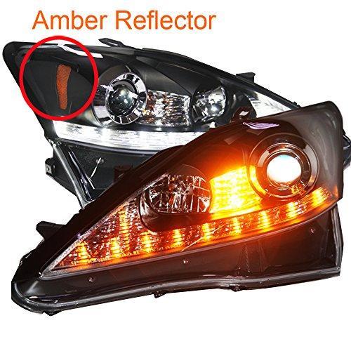 Штатная LED Headlamp 2006 по 2010 год JY для Lexus IS250 Amber Reflector черный ободок