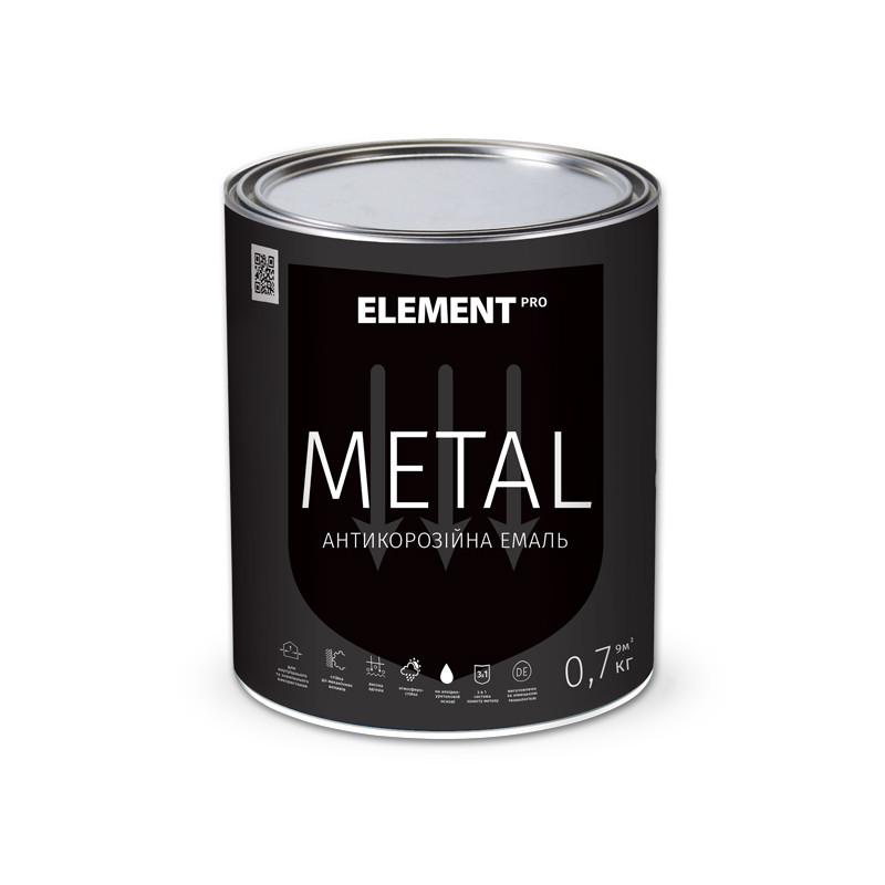 """Антикоррозийная краска METAL """"ELEMENT PRO"""" 0.7 кг зеленый - ЭЛЕМЕНТ-УКРАИНА в Днепре"""