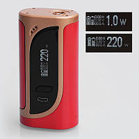 Eleaf iKonn 220W - Батарейный блок для электронной сигареты. Оригинал Gold Red