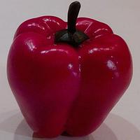 Искусственный овощ перец болгарский красный,муляж перца