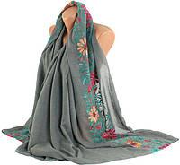 Женская шаль, Trаum 2494-72, хлопок, 170х90 см, цвет серый.