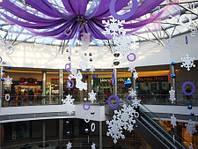Новогодний декор, обьемные буквы, вывески снежинки елки
