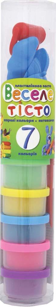 """Пластилиновая паста """"Веселое тесто"""" 7цв(30гр) + 8 пластиковых форм"""