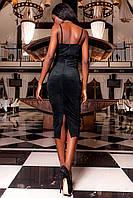 Шикарное выходное Платье Бюстье корсетного вида цвет черный из замши