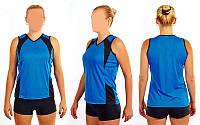 Форма волейбольная женская (нейлон, эластан, р-р rus-42-48, синяя)
