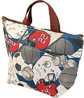 Термо - сумка (ланч-бокс) 5 л. с принтом футбол Traum 7012-18 разноцветный