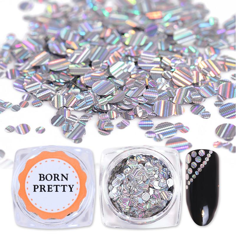 Чешуя для декора ногтей серебряная