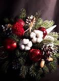 Новогодняя композиция в красно-белых тонах., фото 4