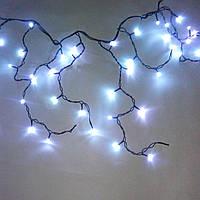 Светодиодная гирлянда Бахрома уличная 3х0.6 м 150 LED ПВХ белая на черном проводе с флешем (мигающая)