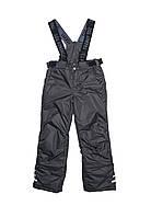 Детский полукомбинезон для мальчика, зимние брюки на бретелях( черные ), штаны на подтяжках