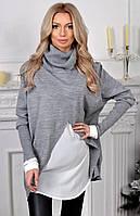 Стильный женский свитер-обманка