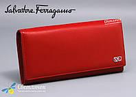 Кошелек женский кожаный красный Salvatore Ferragamo