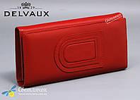 Кошелек женский кожаный Delvaux красный