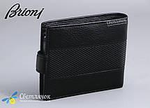 Кошелек визитница мужской кожаный BRIONI черный, фото 2