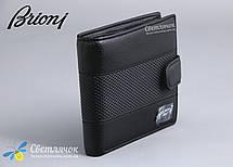 Кошелек визитница мужской кожаный BRIONI черный, фото 3