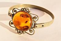 Очаровательный старинный браслет! Натуральный янтарь! Винтаж!
