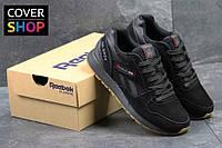 Мужские кроссовки Reebok Gl 6000, черные, материал - замша, подошва - пенка