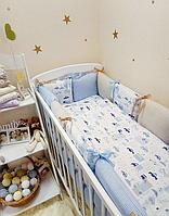 """Бортики в кроватку + простынь Baby Design """"City"""""""