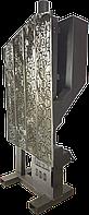 Камино-печь на пеллетах ILMAX-311 с защитным экраном из нержавеющей стали.