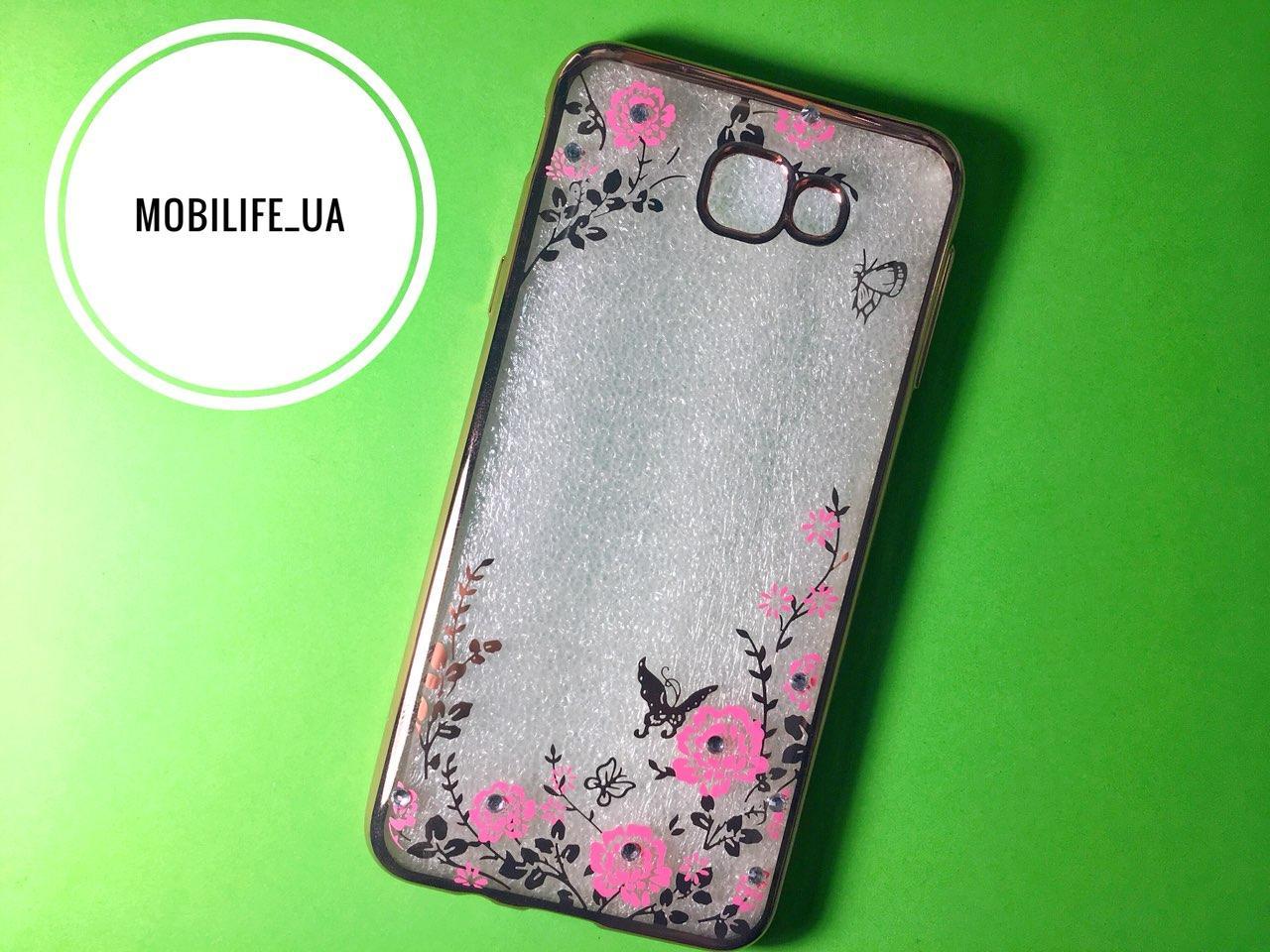 Чехол Samsung J5 Prime (G570F) Силиконовый Стразы