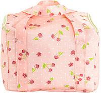 Красивая термо-сумка (ланч-бокс) для женщин на 7 л. с принтом вишня Traum 7012-41 розовый