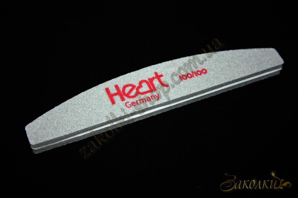 Пилка-баф для ногтей HEART Germany 100/100 Half двухсторонняя, 1 штука