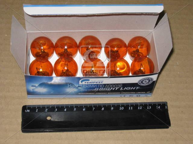 Лампа указателей поворотов и стоп-сигналов оранж. BA15s Amber 12V P21W  12V21W_BA15s Amber